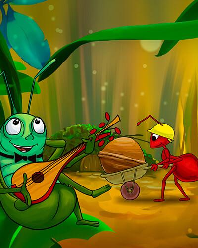 Imagen de La cigarra y la hormiga